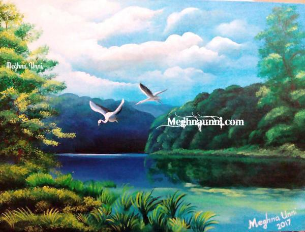 nature acrylic on canvas painting