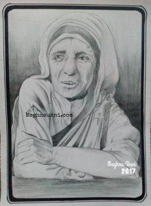 Mother Teresa Pencil Sketch