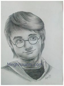 Harry Potter Pencil Sketch | Daniel Radcliff Pencil Shading Work