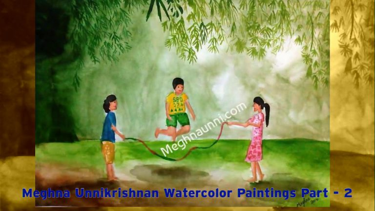 Meghna Unni Water Colour Paintings Video Part 2