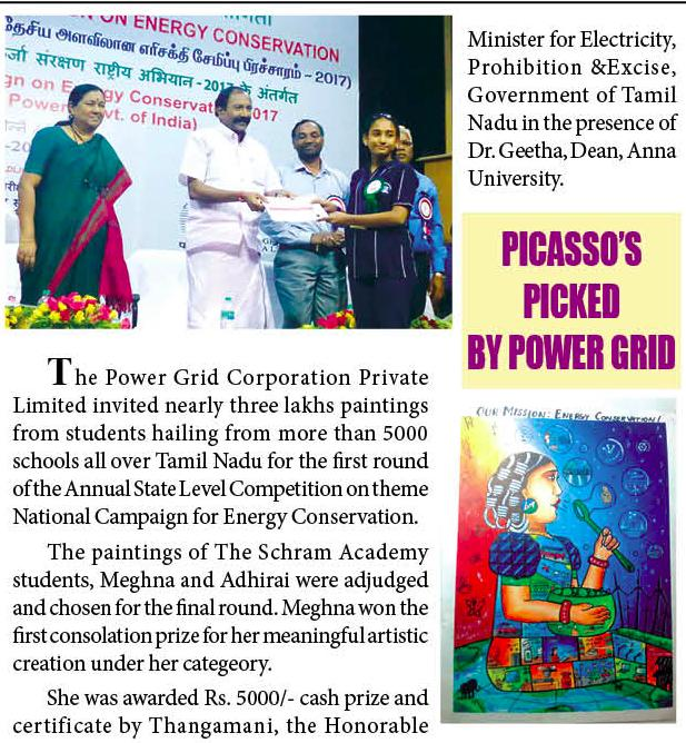 BEE Painting Competition Winning in Newspapers