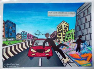 Road Safety Poster Painting