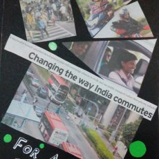 Traffic Safety Posters made with News Paper Cuttings
