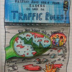 A Poster Design for Traffic Safety Awareness