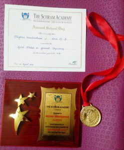 Special Achievement Award & General Proficiency Std 8