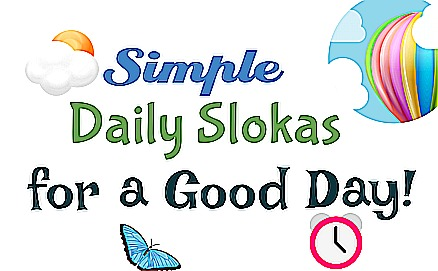 Simple Daily Slokas for a Good Day