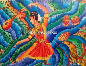 Bharathanatyam & Music of India Painting