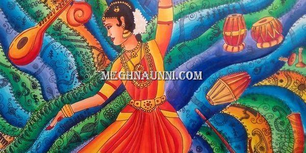 Bharathanatyam & Music of India Painting