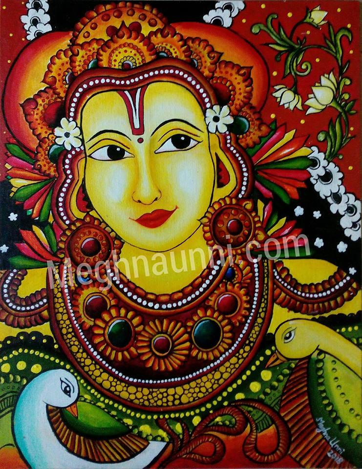 """""""Mohini"""" Semi-Mural Acrylic Painting"""