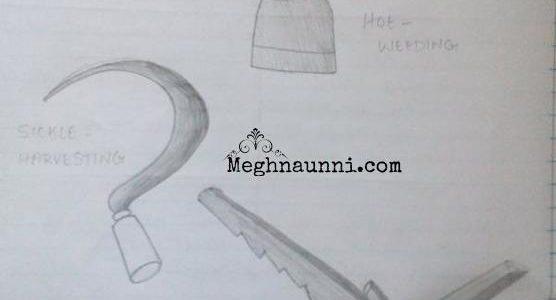 Agricultural Implements Pencil Diagram