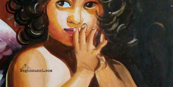 """Little Angel"" Acrylic Work by Me"
