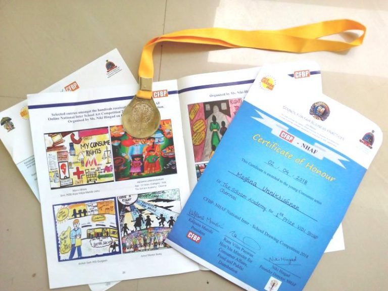 CFBP – NHAF 7th Annual Global Interschool Art Competition 2018 – First Prize