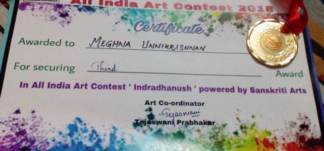 Sanskriti Arts Indradhanush All India Art Contest 2018