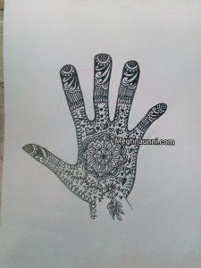 Mehendi Design with Pen