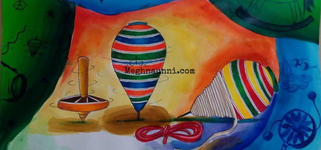 Wooden Spinning Top | Traditional Toys Painting