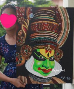 Kathakali Painting | Acrylic on Canvas Board