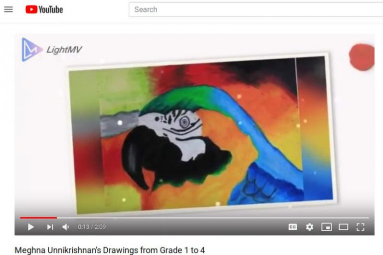My Drawings Collection Video from Std 1 to Std 4