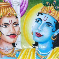 Mahabharatha Series – Painting – 1   Nara-Narayana   Arjun & Sri Krishna Drawing