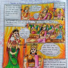 Mahabharatha Series – Painting – 2 – Suryaputra Karna – Cartoon Strip