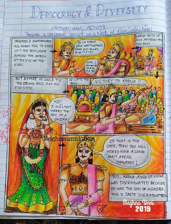 Mahabharatha Series – Painting – 2 – Suryaputra Karna – Cartoon Strip