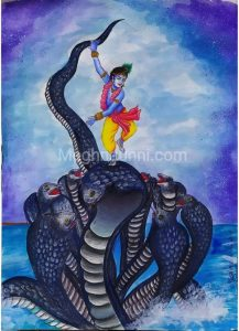 Kaliya Mardhanam Painting   Kalinga Narthanam Painting