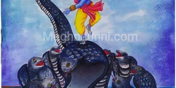 Kaliya Mardhanam Painting | Kalinga Narthanam Painting