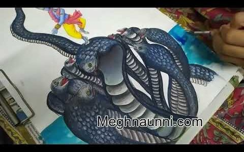 Kaliya Mardhanam | Kalinga Narthanam Painting Video by Meghna Unni