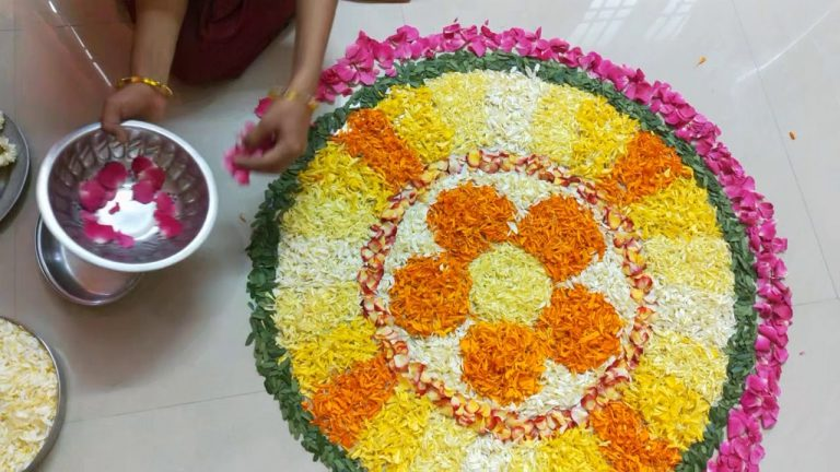 Onam 2019 Pookalam Making Video