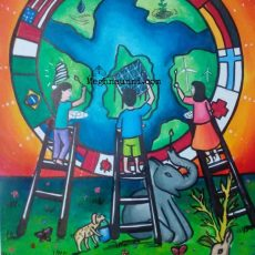 Together We Are Eco-Friendly Painting