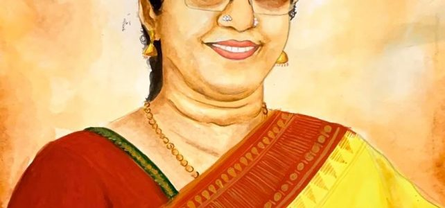 My Dance Teacher Sheela Mam's Portrait Painting