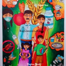 My Healthy India Poster Painting