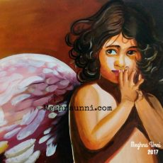 """""""The Little Angel"""" Acrylic Painting Full Picture"""