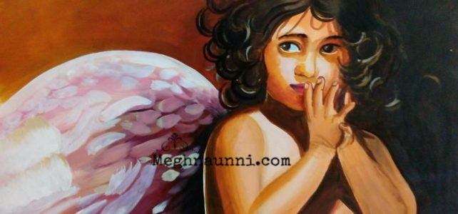 """The Little Angel"" Acrylic Painting Full Picture"