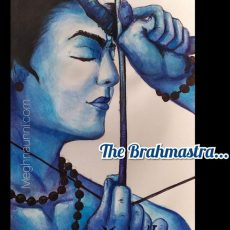 Lord Rama Wielding Brahmastra Watercolour Painting