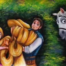 Holiday Painting – 2: A Scene from Disney's 'Tangled' Movie | Rapunzel & Flynn Rider