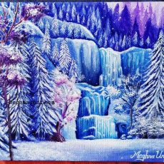 "Holiday Work 4 : ""Winter Paradise"" Acrylic on Canvas"