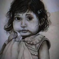 My Pencil Sketch of Baby Nirantara Ranjeev