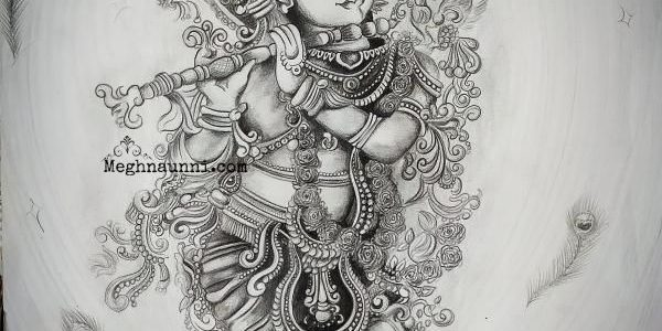 "Happy Vishu 2020 – ""Muralidhara"" Pencil Sketch"