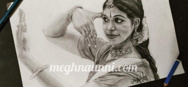 Dancer Shobha Korambil Mam Pencil Sketch