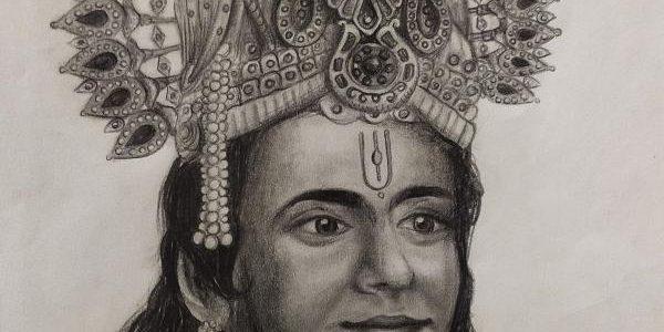 Mahabharat SriKrishna Nitish Bharadwaj Sir Pencil Sketch