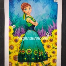 Queen Anna of Arendelle Acrylic Painting