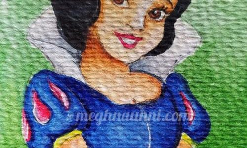 First Disney Princess – Snow White from 1937 – My Painting