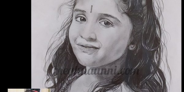 Anagha (Chinnu) Portrait Sketch for her 2020 Birthday