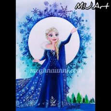 Elsa from Olaf's Frozen Adventure! Painting