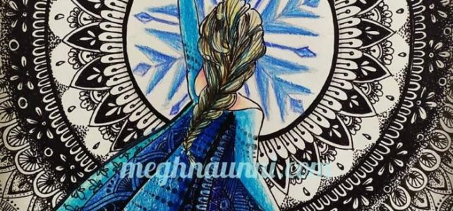 Elsa in Mandala Background | Done for Unique Mandala Collab