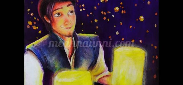 Eugene Fitzherbert from Tangled!! Pencil Colors & Acrylic