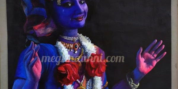 My Painting of Harinie Akka as Lord Krishna from SDN's Srikrishna Vaibhavam Dance Drama