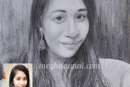 A Lady Pencil Sketch Portrait