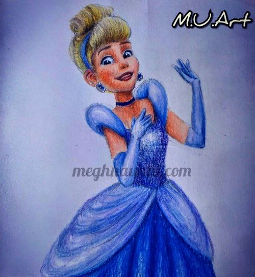 cinderella drawing by meghna unni India