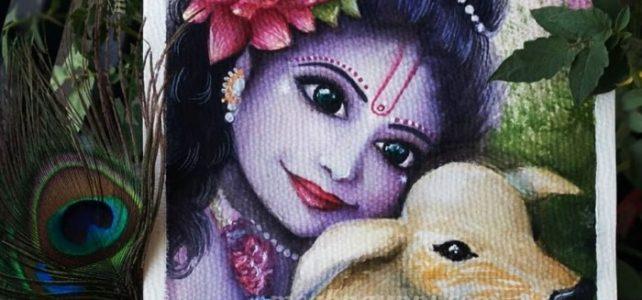 Happy Janmashtami | Baby Krishna Painting in Watercolours